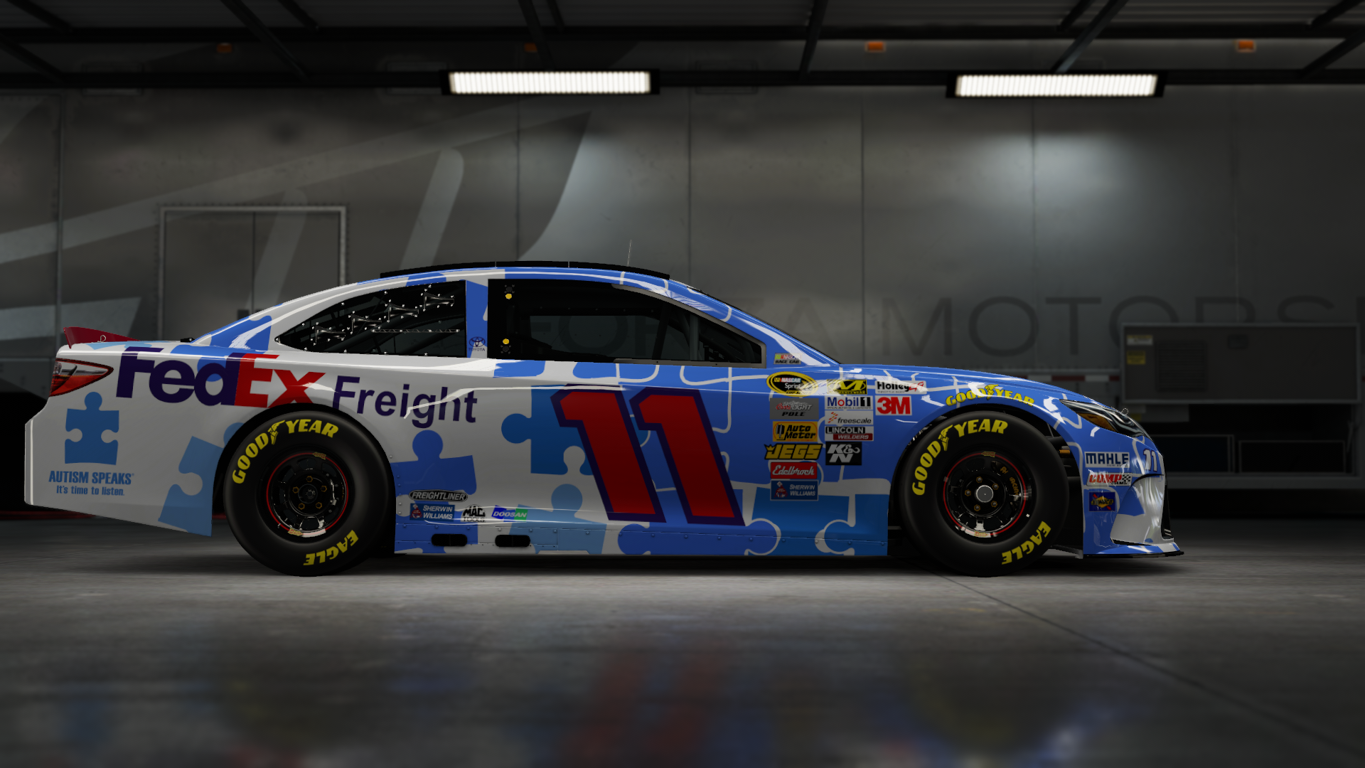 On the #11 Joe Gibbs Racing FedEx Express, Made by SweedishThunder