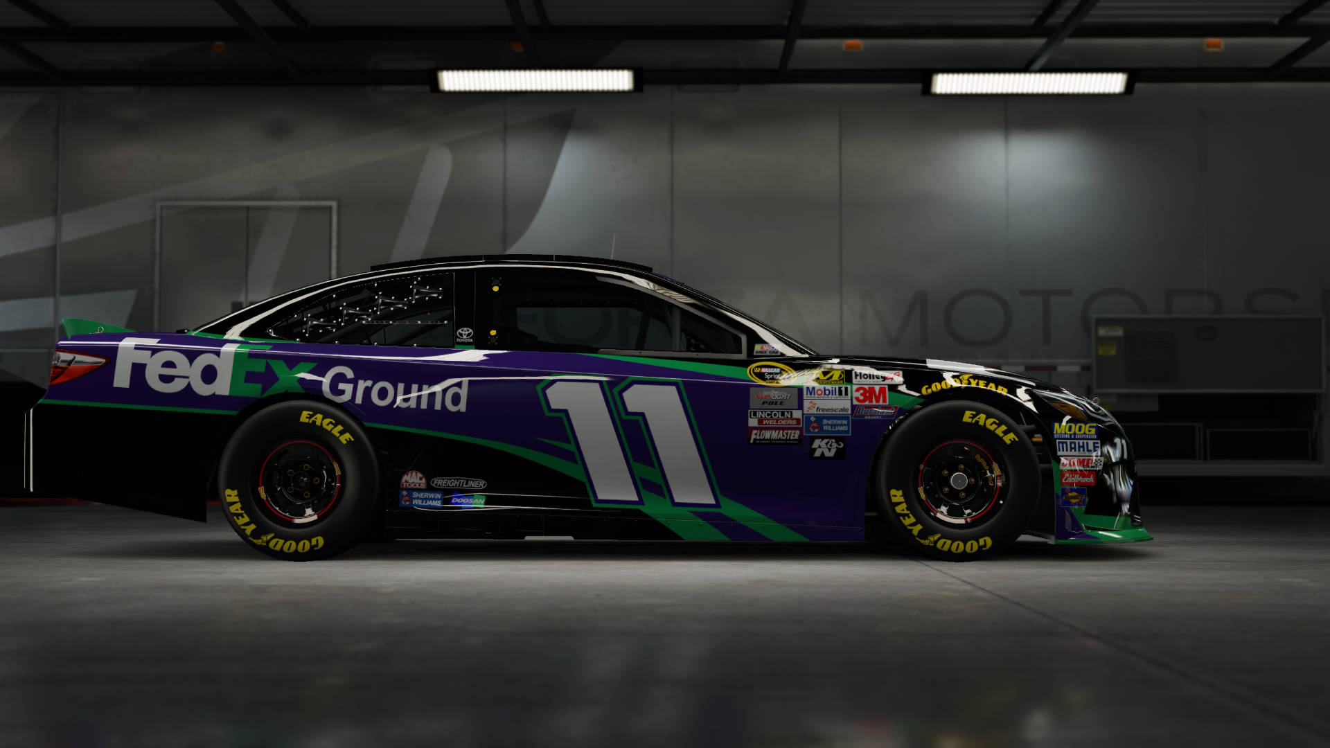 On the #11 Joe Gibbs Racing FedEx Express Camry, Made by SweedishThunder