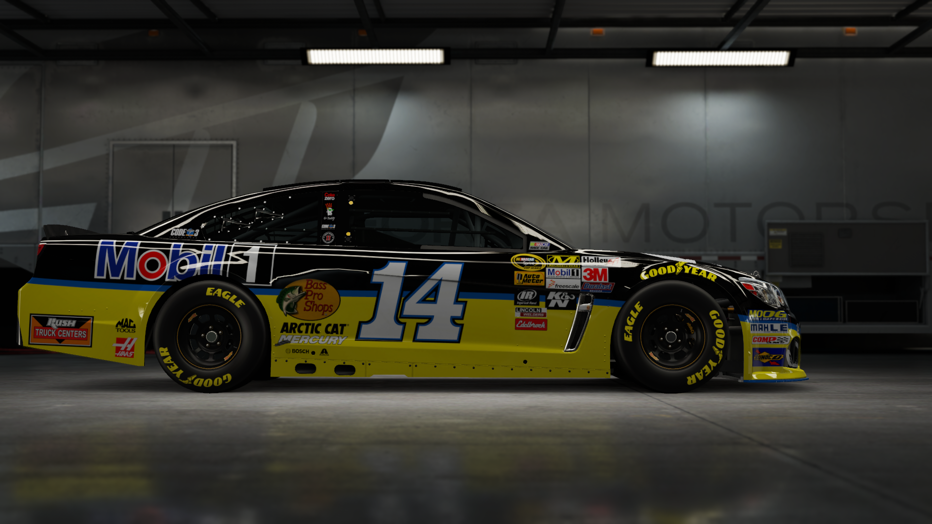 On the #14 Stewart-Haas Racing Mobil 1 Super Sport, Made by SweedishThunder