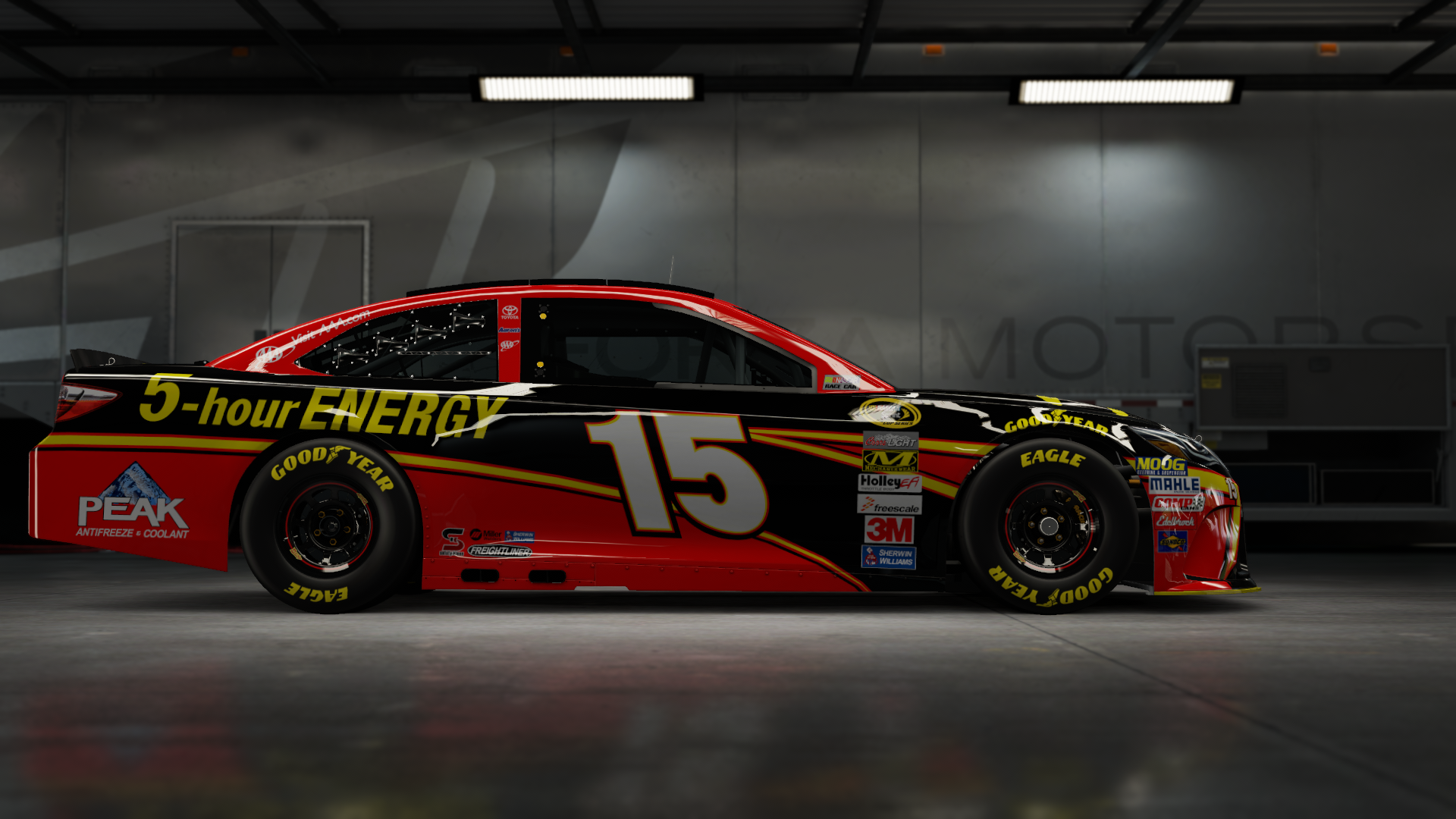 On the #20 Joe Gibbs Racing DeWalt Camry, Made by SweedishThunder