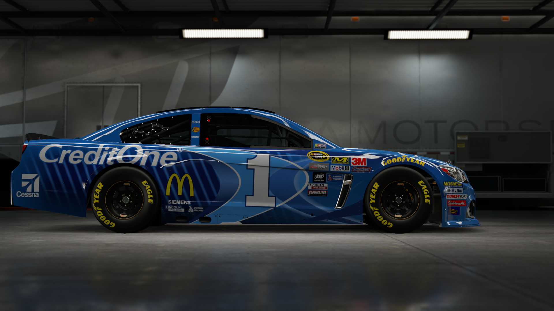 On the #1 Chip Ganassi Racing McDonald's Super Sport, Made by SweedishThunder