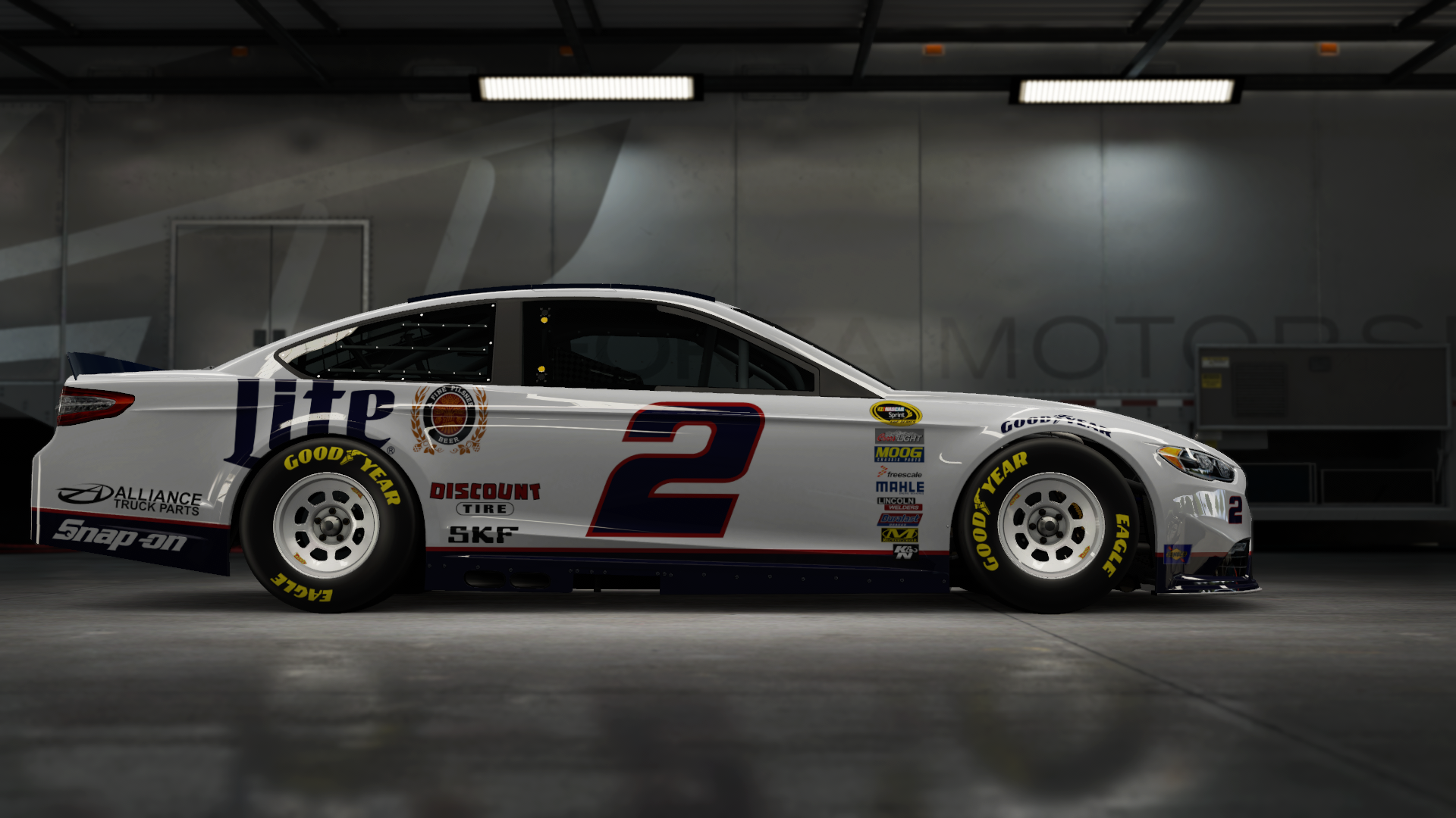 On the #2 Team Penske 'Brad K.' Ford Fusion, Made by SweedishThunder