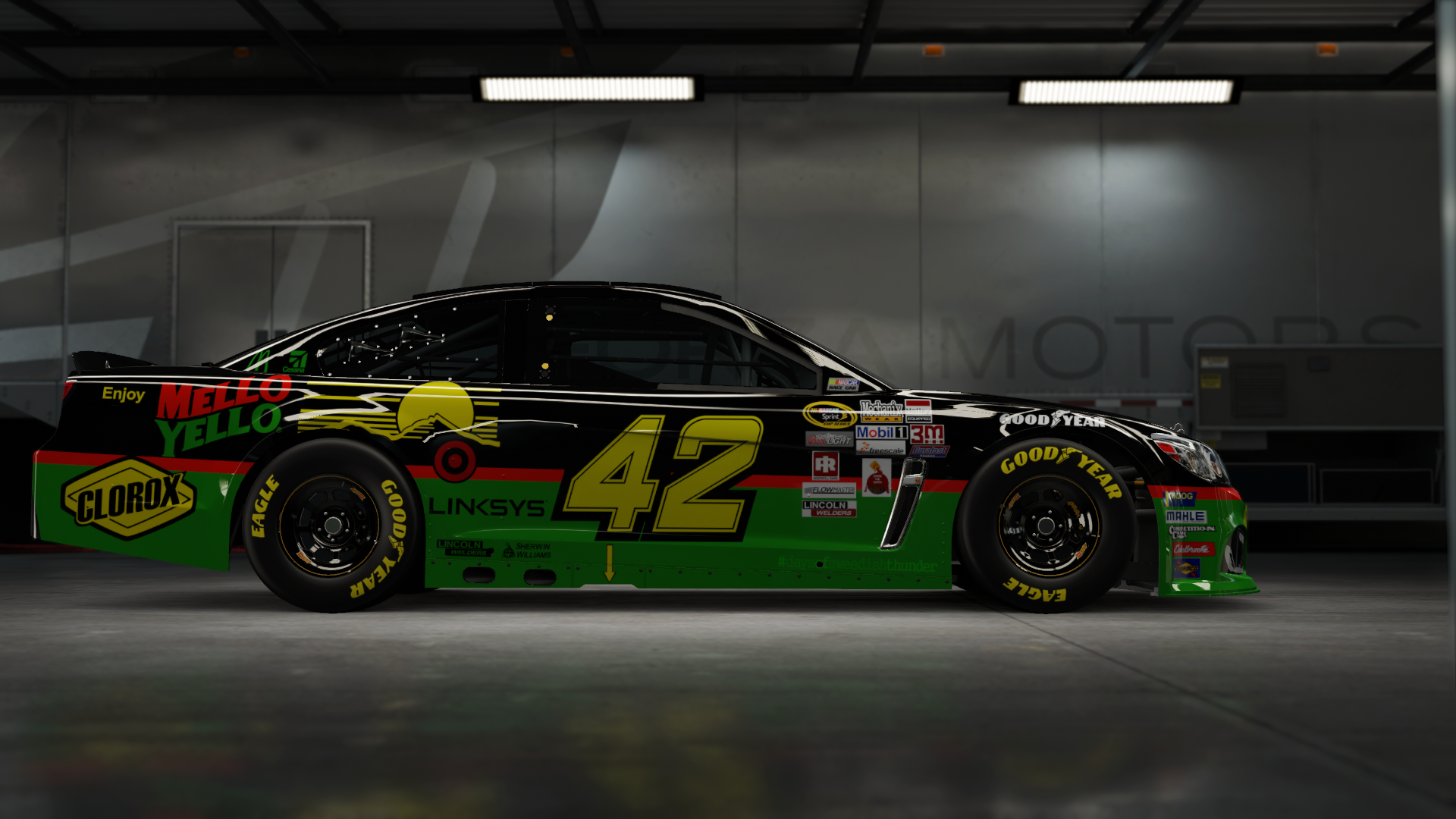 On the #42 Chip Ganassi Racing Target Super Sport, Made by SweedishThunder