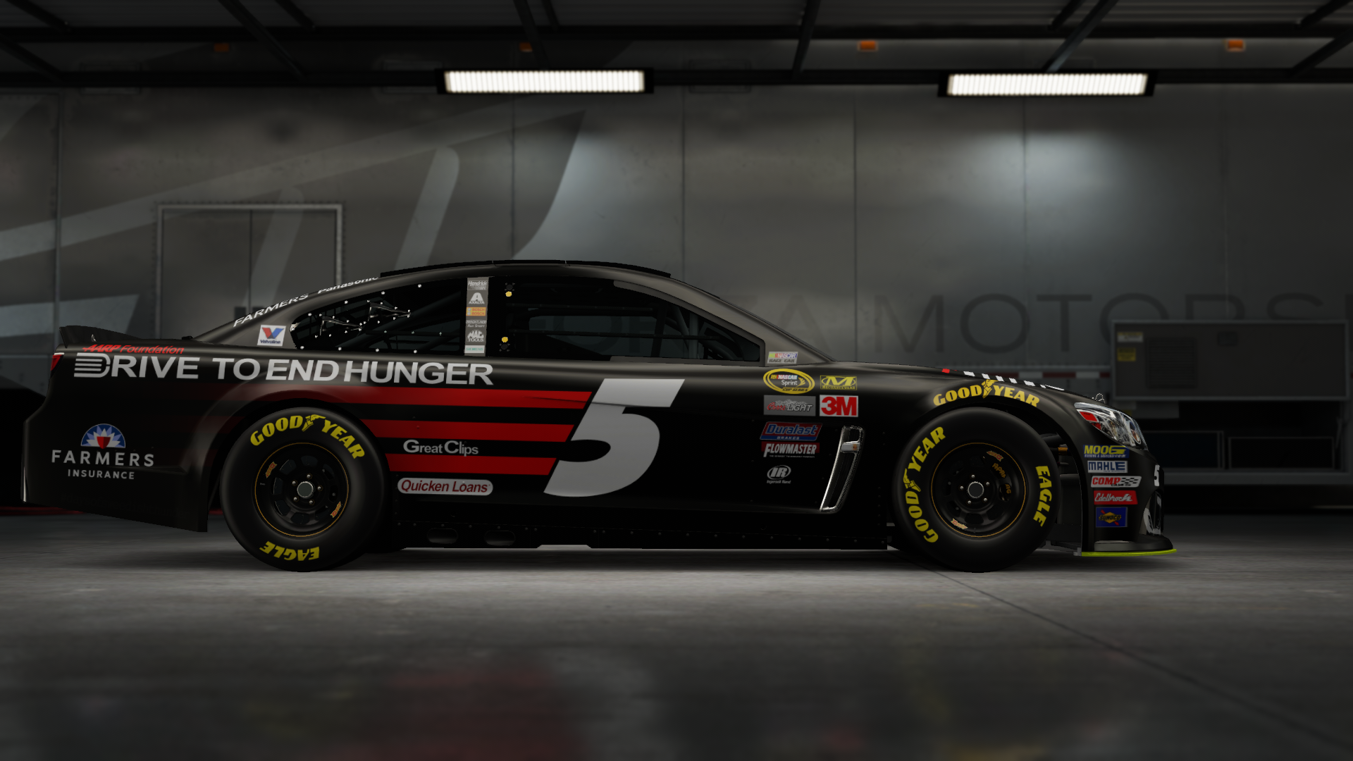 On the #5 Hendrick Motorsports Great Clips Super Sport, Made by SweedishThunder