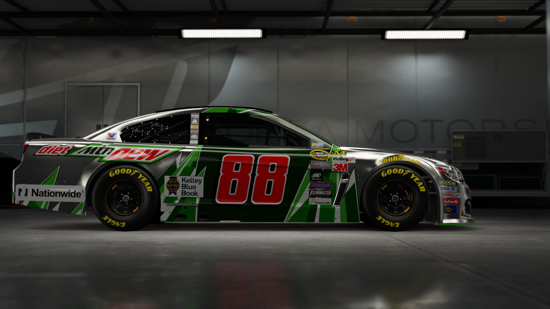 On the #88 Hendrick Motorsports Nationwide Insurance Super Sport, Made by SweedishThunder